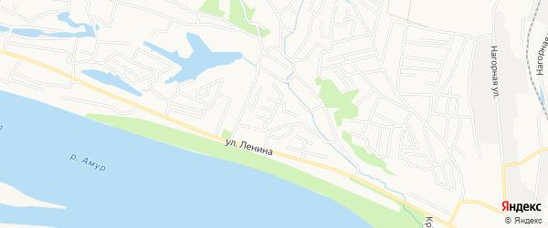 СТ РЭБ Флота на карте Благовещенска с номерами домов
