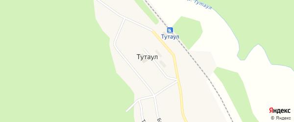 Бамовская улица на карте поселка Тутаула с номерами домов
