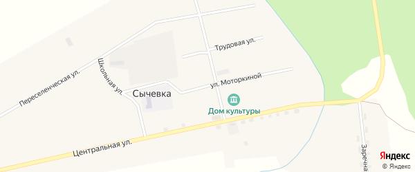 Улица Моторкиной на карте села Сычевки с номерами домов