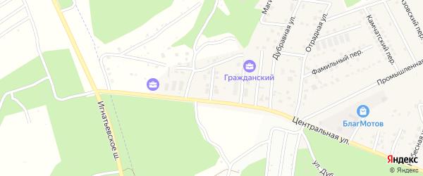 Российская улица на карте села Чигири с номерами домов