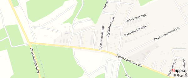Магистральная улица на карте села Чигири с номерами домов