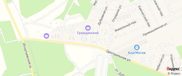 Брусничный переулок на карте села Чигири с номерами домов