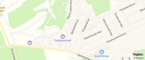 Дубравная улица на карте села Чигири с номерами домов