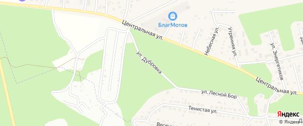 Улица Дубровка на карте села Чигири с номерами домов