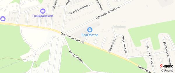Транспортная улица на карте села Чигири с номерами домов