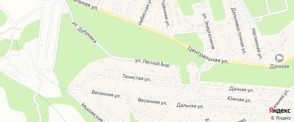 Улица Лесной Бор на карте села Чигири с номерами домов