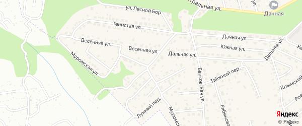 Весенняя улица на карте села Чигири с номерами домов