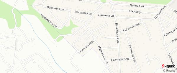 Городской переулок на карте села Чигири с номерами домов