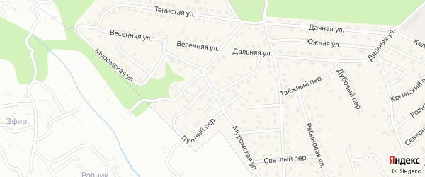 Муромская улица на карте села Чигири с номерами домов