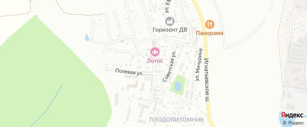 Гаражная улица на карте села Плодопитомника с номерами домов