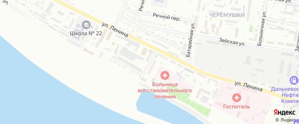 Пограничный переулок на карте Благовещенска с номерами домов