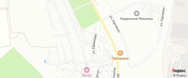 Улица Ефремова на карте села Плодопитомника с номерами домов