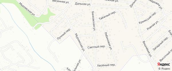 Финансовый переулок на карте села Чигири с номерами домов