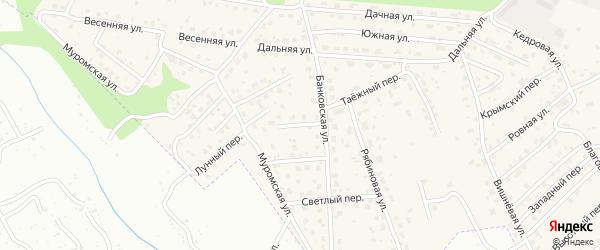Клубничный переулок на карте села Чигири с номерами домов