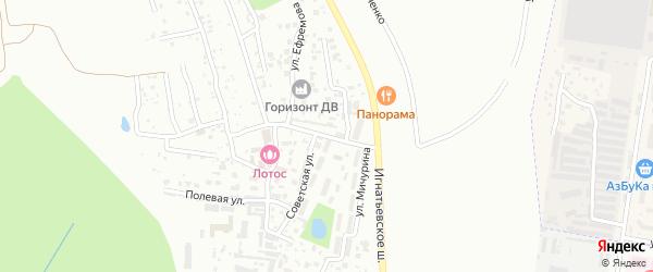 Центральная улица на карте села Плодопитомника с номерами домов