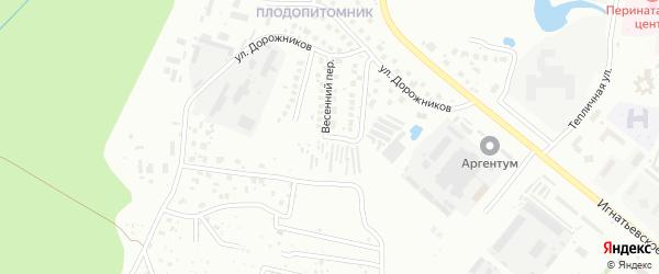 Радужный переулок на карте Благовещенска с номерами домов