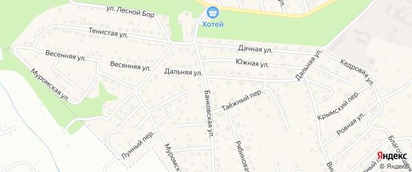 Банковская улица на карте села Чигири с номерами домов