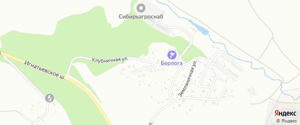 Клубничная улица на карте села Плодопитомника с номерами домов