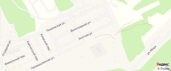 Элитная улица на карте села Чигири с номерами домов