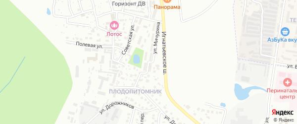 Улица Мичурина на карте Благовещенска с номерами домов