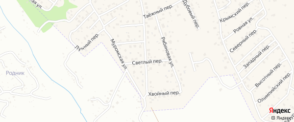 Рябиновая улица на карте села Чигири с номерами домов