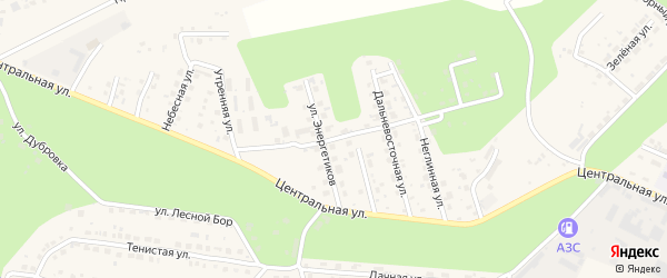 Дальневосточная улица на карте села Чигири с номерами домов