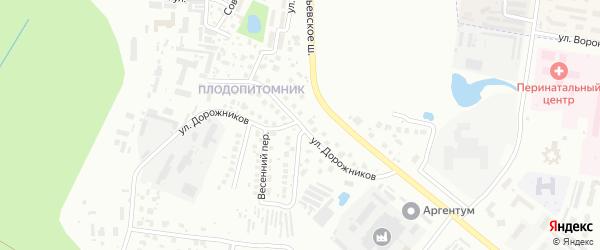 Улица Дорожников на карте Благовещенска с номерами домов