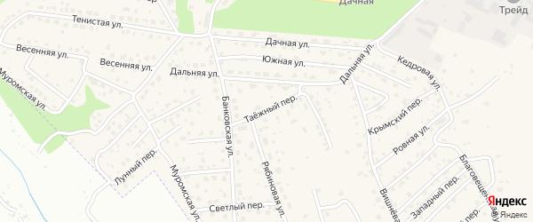 Таежный переулок на карте села Чигири с номерами домов