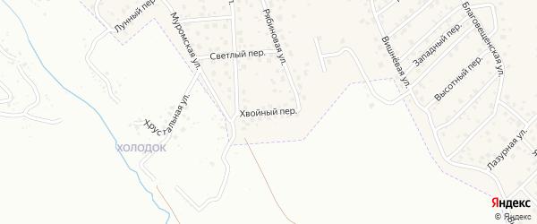 Хвойный переулок на карте села Чигири с номерами домов