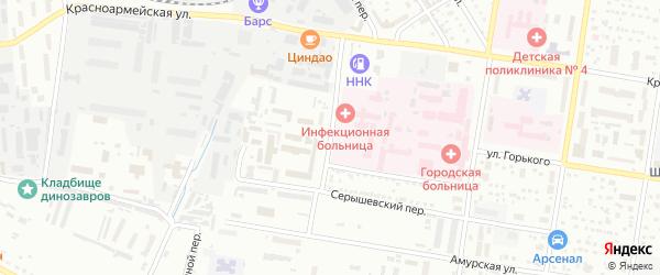 Батарейная улица на карте Благовещенска с номерами домов