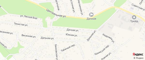 Дачная улица на карте села Чигири с номерами домов