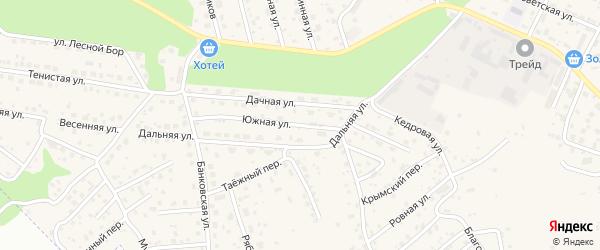 Южная улица на карте села Чигири с номерами домов
