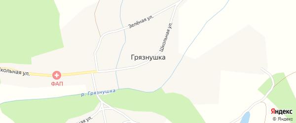 Зеленая улица на карте села Грязнушки с номерами домов