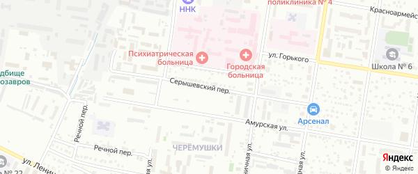Серышевский переулок на карте Благовещенска с номерами домов