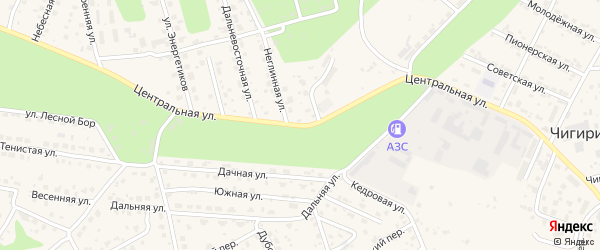 Центральная улица на карте села Чигири с номерами домов