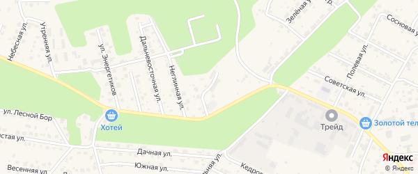 Листопадный переулок на карте села Чигири с номерами домов