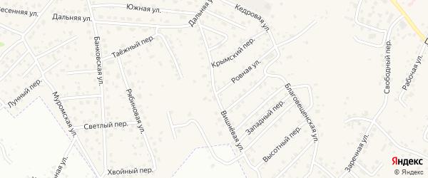 Вишневая улица на карте села Чигири с номерами домов
