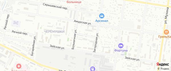 Загородный переулок на карте Благовещенска с номерами домов