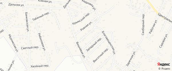 Северный переулок на карте села Чигири с номерами домов