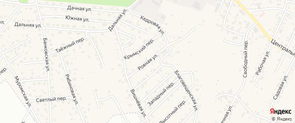 Ровная улица на карте села Чигири с номерами домов