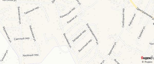 Вольный переулок на карте села Чигири с номерами домов