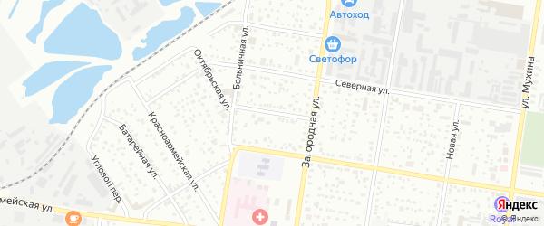 Волочаевский переулок на карте Благовещенска с номерами домов