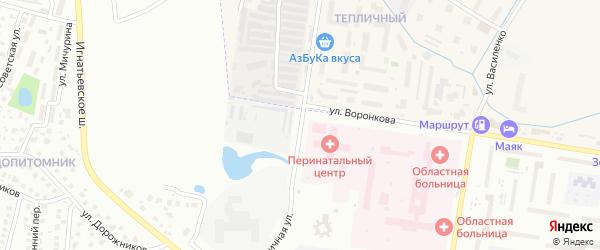 Тепличная улица на карте Благовещенска с номерами домов