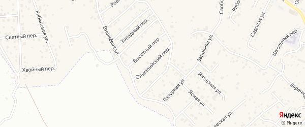 Олимпийский переулок на карте села Чигири с номерами домов
