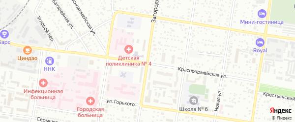 Загородная улица на карте Благовещенска с номерами домов