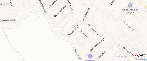 Лазурная улица на карте села Чигири с номерами домов