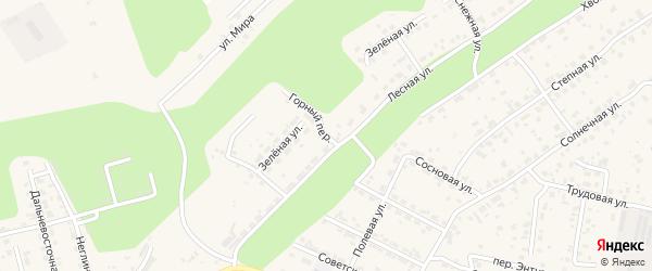 Горный переулок на карте села Чигири с номерами домов