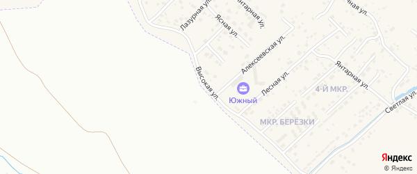 Высокая улица на карте села Чигири с номерами домов