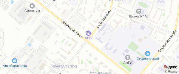Улица Василенко на карте Благовещенска с номерами домов