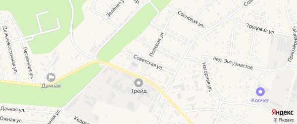 Советская улица на карте села Чигири с номерами домов